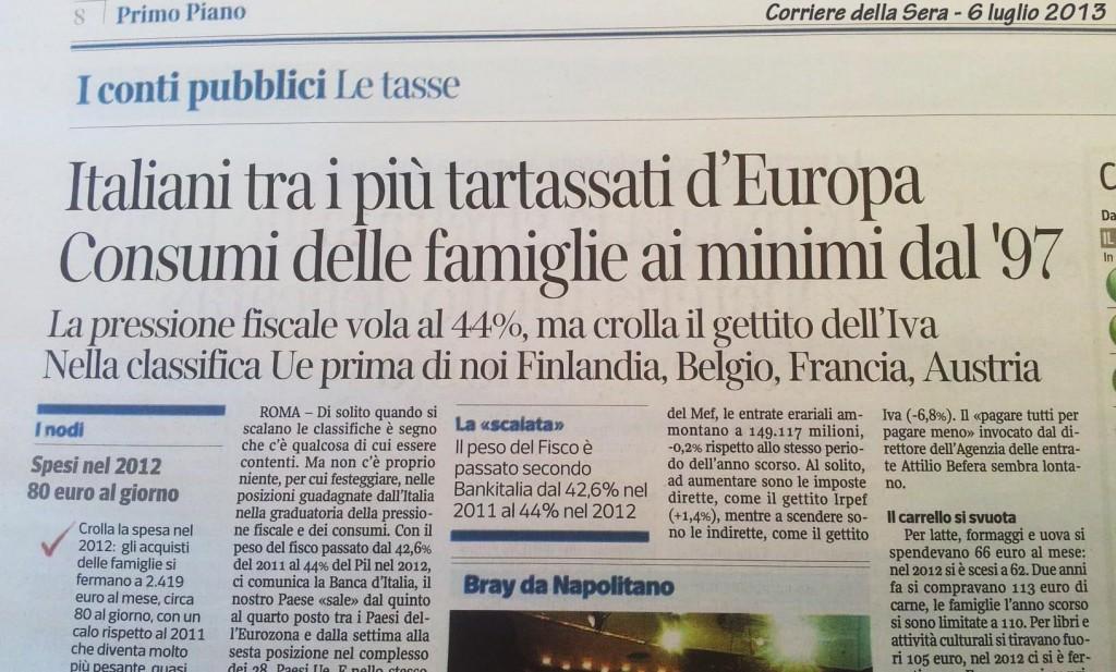 corriere della sera crisi italia tartassata 2013